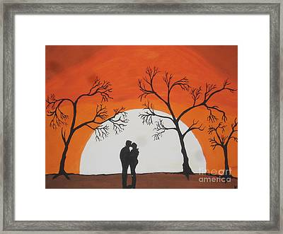 First Kiss Framed Print by Jeffrey Koss