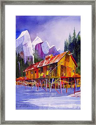 Fishermans Dock Framed Print by Buster Dight
