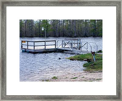 Fishing Boat Dock  Framed Print by Bill Perry