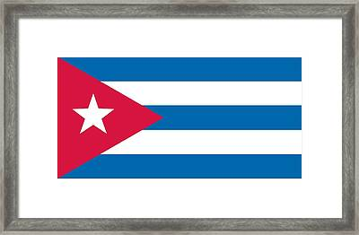 Flag Of Cuba Framed Print by Unknown