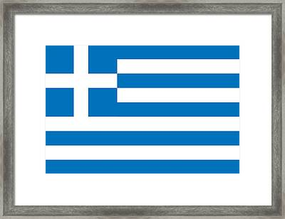 Flag Of Greece Framed Print by Unknown