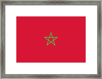 Flag Of Morocco Framed Print by Unknown
