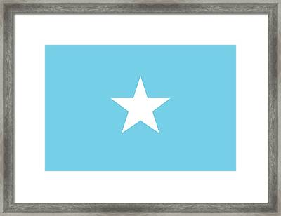 Flag Of Somalia Framed Print by Unknown