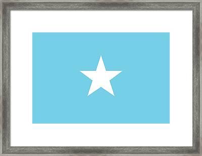 Flag Of Somalia Framed Print