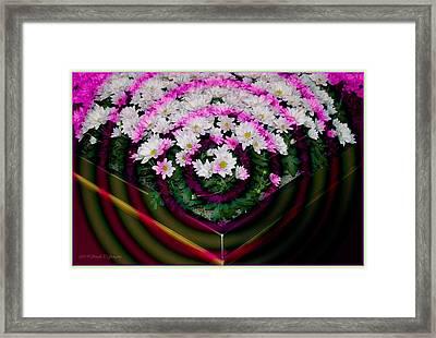 Floral Rings Framed Print by Sonali Gangane