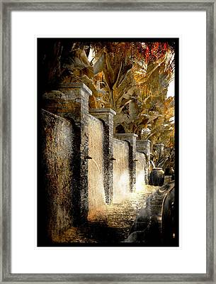 Framed Print featuring the photograph   Flowing Waterfall  by Athala Carole Bruckner