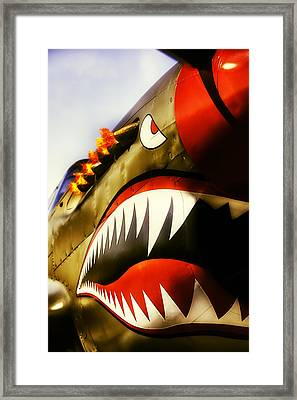 Flying Tiger Attack Framed Print