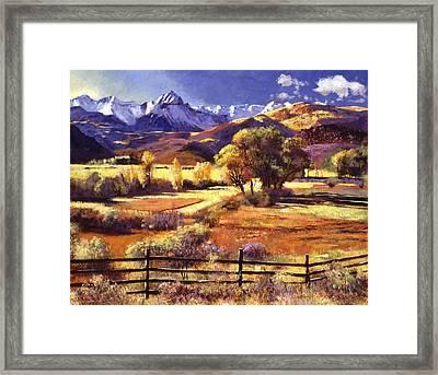 Foothills Ranch Framed Print by David Lloyd Glover