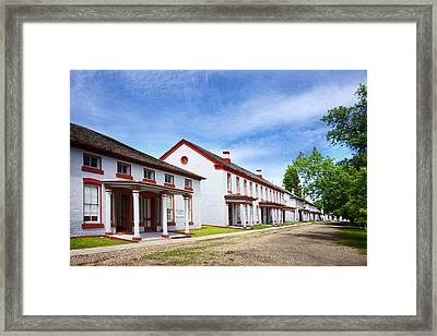 Fort Totten North Dakota Officers Row Framed Print
