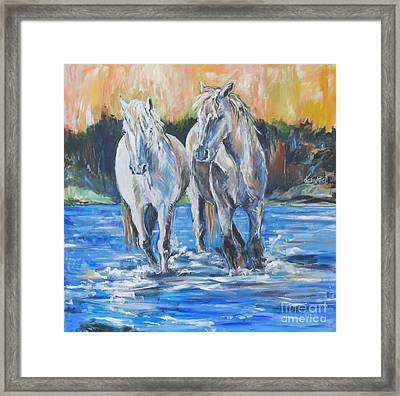 Framed Print featuring the painting  Fresh Water by Debora Cardaci