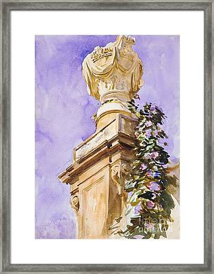 Garden Near Lucca Framed Print by MotionAge Designs