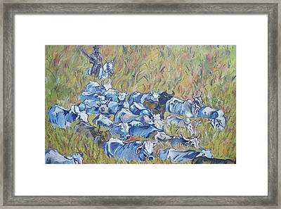 Gaucho Roundup Framed Print
