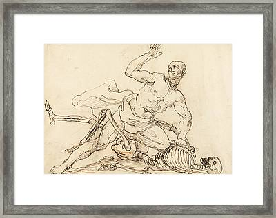 George Taylor's Epitaph - George Taylor Breaking The Ribs Of Death  Framed Print