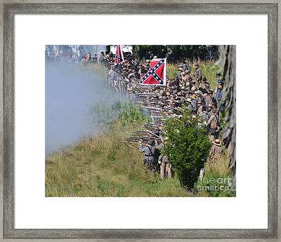 Gettysburg Confederate Infantry 8769c Framed Print