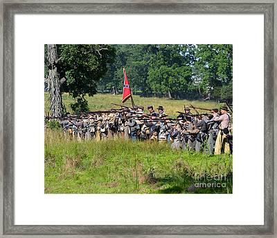 Gettysburg Confederate Infantry 9270c Framed Print