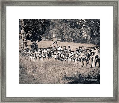 Gettysburg Confederate Infantry 9270s Framed Print