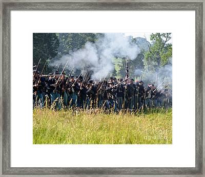 Gettysburg Union Infantry 9360c Framed Print