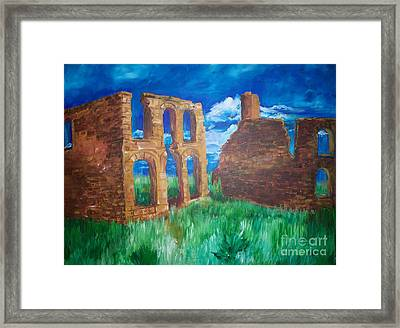 Framed Print featuring the painting  Ghost Town  by Eric  Schiabor