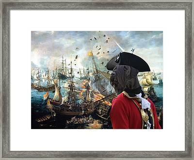 Giant Schnauzer Art Canvas Print - Battle Of Gibraltar  Framed Print by Sandra Sij