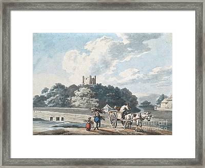 Gleaners With A Horse And Cart Framed Print by MotionAge Designs
