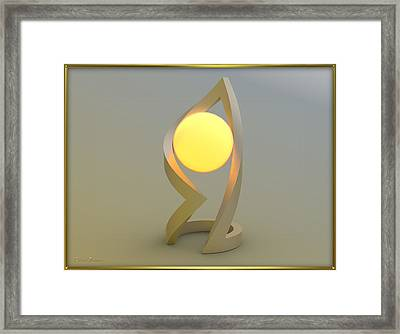 ' Glowing Down In A Ball Of Frame ' Framed Print