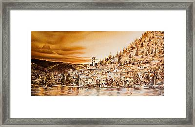 Golden Reflections Framed Print by Michel Angelo Rossi