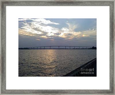 Gov Thomas Johnson Bridge Framed Print