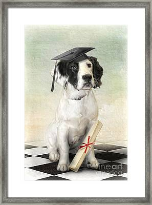 Framed Print featuring the digital art  Graduation Day by Trudi Simmonds