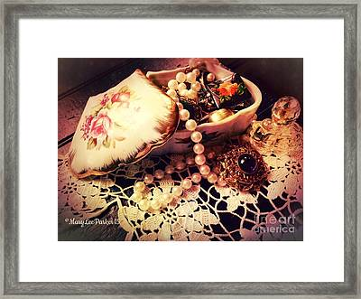 Grandma's Treasures I Framed Print by MaryLee Parker