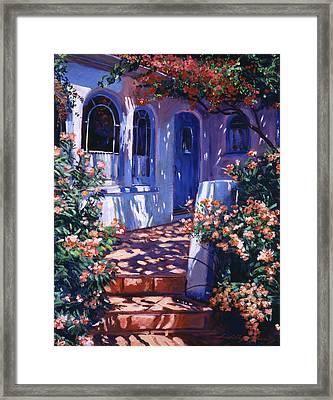 Greek Poets Cottage Framed Print by David Lloyd Glover