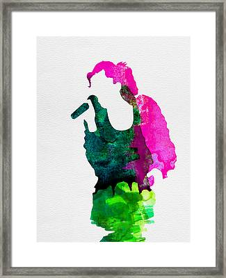 Gwen Watercolor Framed Print by Naxart Studio
