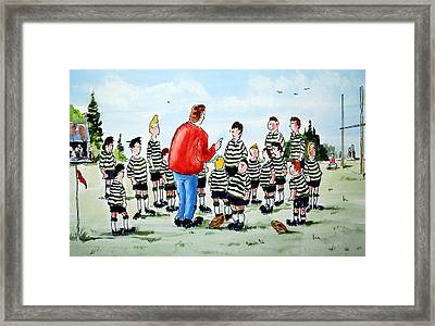 Half Time Framed Print by Wilfred McOstrich
