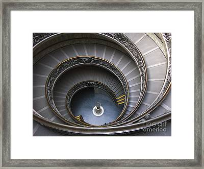 Heart Of The Vatican Museum Framed Print by Sandra Bronstein