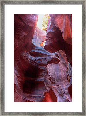 Framed Print featuring the photograph  Heavenly Light by Harold Rau