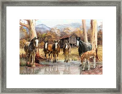 Framed Print featuring the digital art  High Country Hideaway by Trudi Simmonds