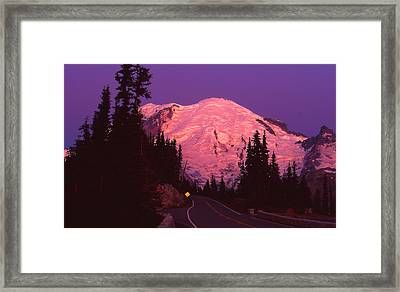 Highway To Sunrise Framed Print by Ansel Price