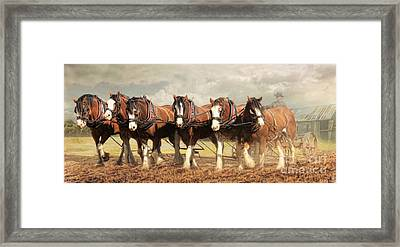 Framed Print featuring the digital art  Horse Power by Trudi Simmonds