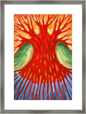 I Burn For You Framed Print by Wojtek Kowalski