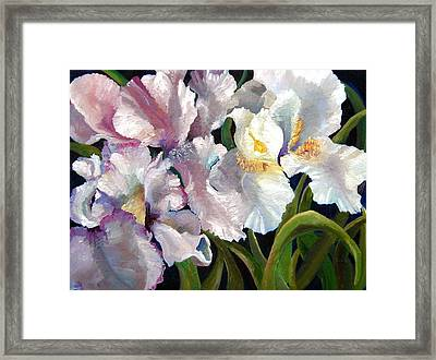 I Love Iris Framed Print by Marcy Silverstein