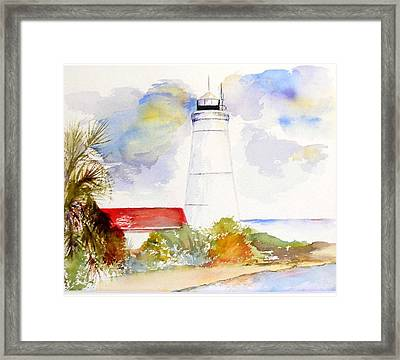 Framed Print featuring the painting  Impression St Marks Lighthouse by Sibby S