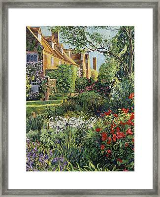 Impressions Of Sissinghurst Framed Print by David Lloyd Glover