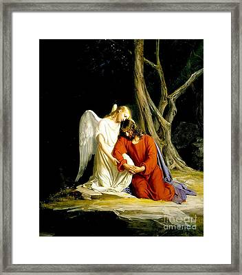 In Gethsemane Framed Print by MotionAge Designs