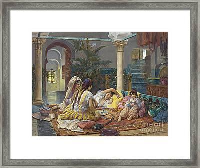 In The Harem  Framed Print by Celestial Images