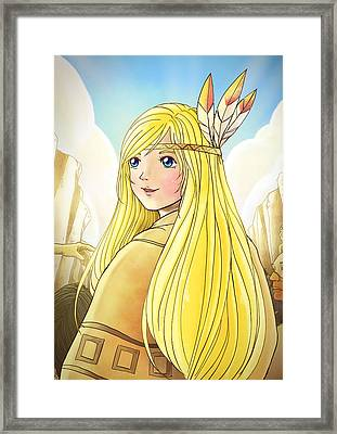 Indian Princess Tammy Framed Print