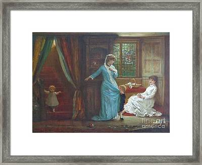 Interior With Ladies And Children Framed Print by MotionAge Designs