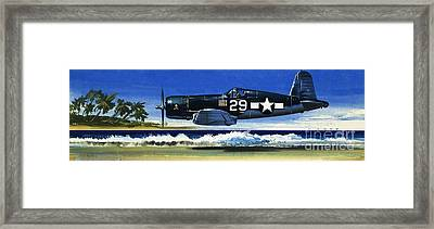 Into The Blue American War Planes Framed Print
