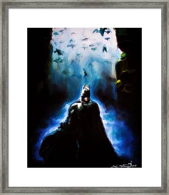 Into The Cave Framed Print