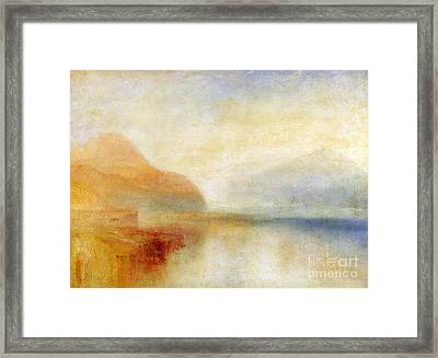 Inverary Pier - Loch Fyne - Morning Framed Print by Joseph Mallord William Turner