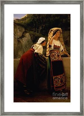 Italian Women From Abruzzo  Framed Print by Sir Lawrence Alma-Tadema