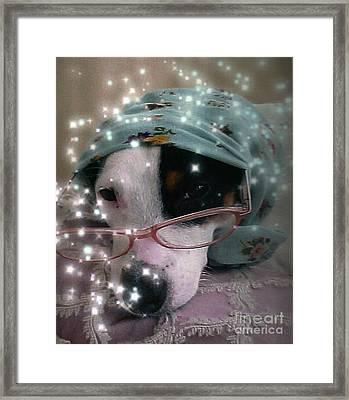 Jack Russell  Winsdom Framed Print by Leonor Shuber